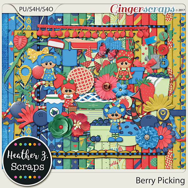 Berry Picking KIT by Heather Z Scraps