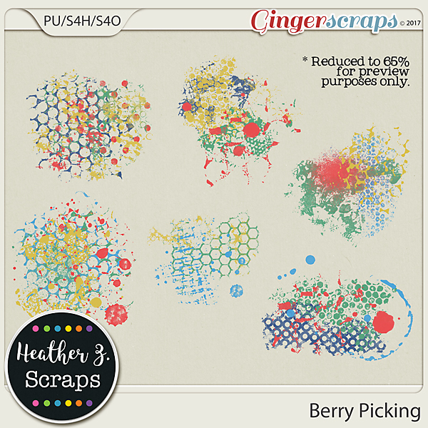 Berry Picking PAINT by Heather Z Scraps