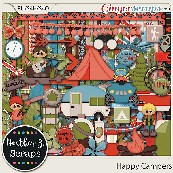 Happy Campers KIT by Heather Z Scraps