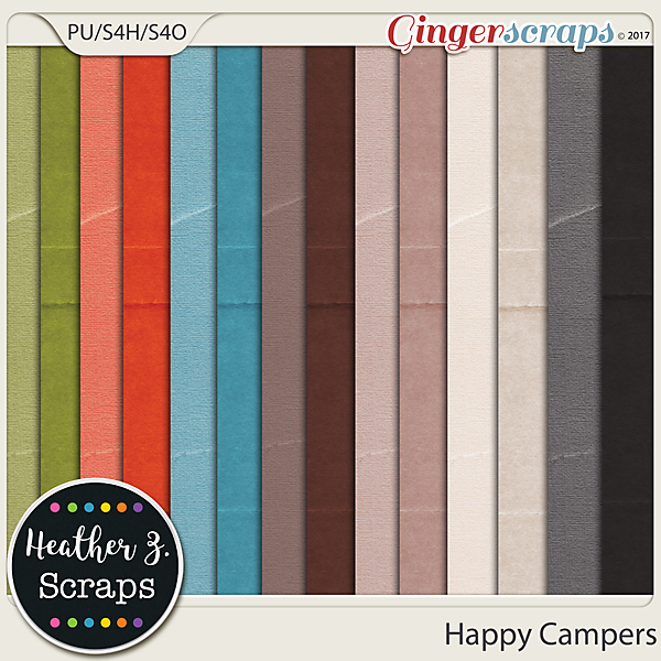 Happy Campers SOLIDS by Heather Z Scraps