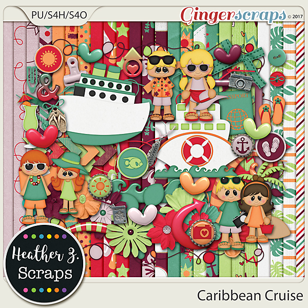 Caribbean Cruise KIT by Heather Z Scraps