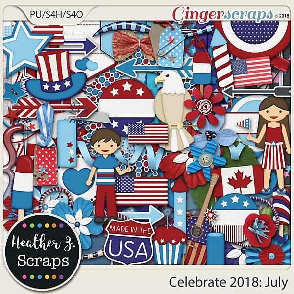 Celebrate 2018: July KIT by Heather Z Scraps