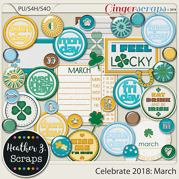 Celebrate 2018: March ACCENTS by Heather Z Scraps