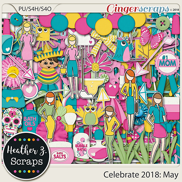 Celebrate 2018: May KIT by Heather Z Scraps