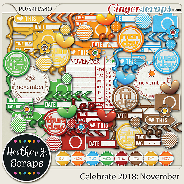 Celebrate 2018: November ACCENTS by Heather Z Scraps