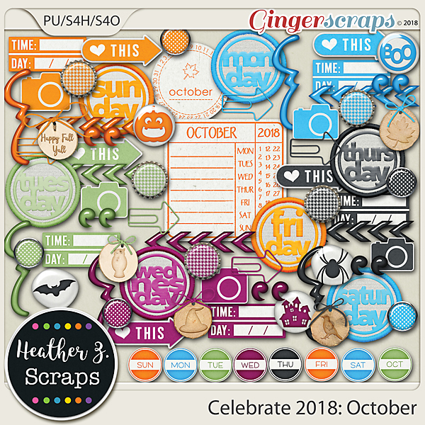 Celebrate 2018: October ACCENTS by Heather Z Scraps