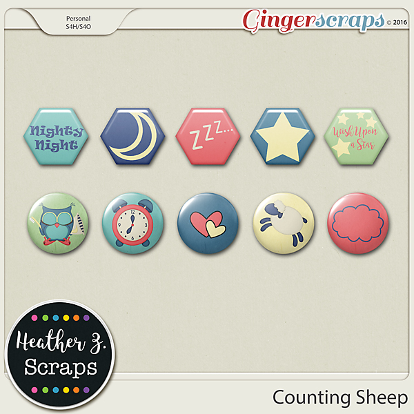 Counting Sheep FLAIRS by Heather Z Scraps