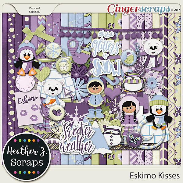 Eskimo Kisses KIT by Heather Z Scraps