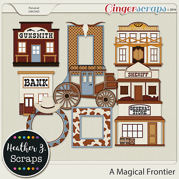 A Magical Frontier EXTRAS by Heather Z Scraps