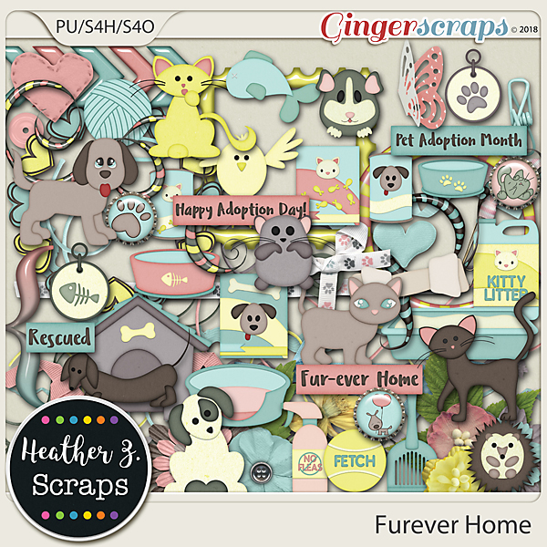 Furever Home ELEMENTS by Heather Z Scraps