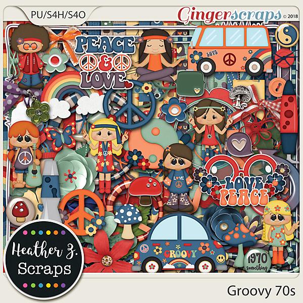 Groovy 70s KIT by Heather Z Scraps