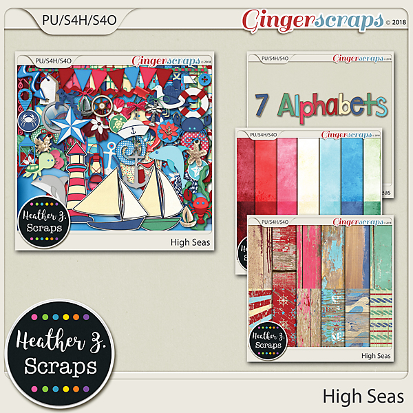 High Seas BUNDLE by Heather Z Scraps
