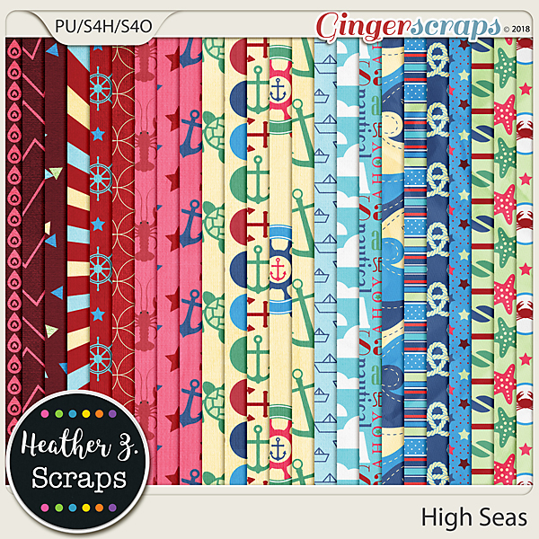 High Seas PAPERS by Heather Z Scraps