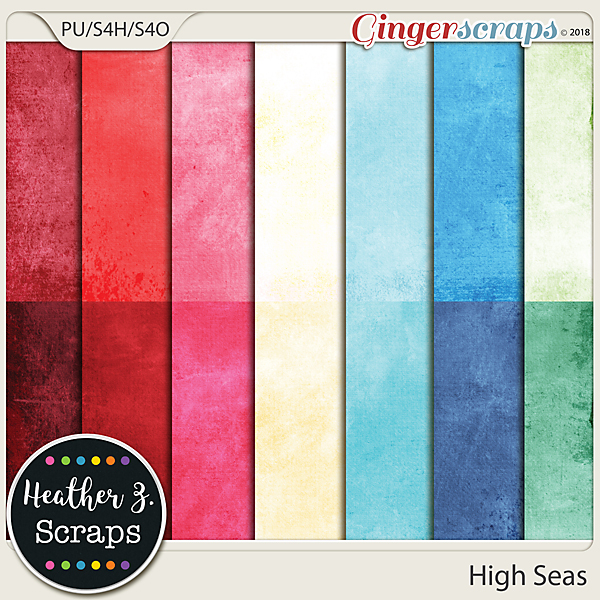 High Seas SOLIDS by Heather Z Scraps