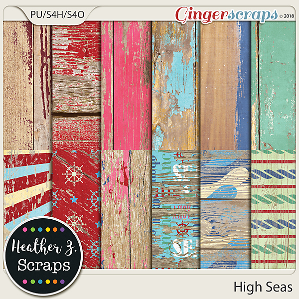 High Seas WEATHERED WOOD by Heather Z Scraps