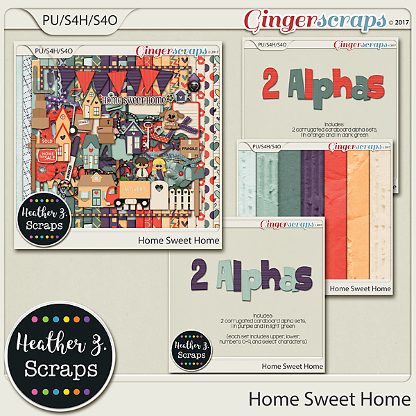 Home Sweet Home BUNDLE by Heather Z Scraps