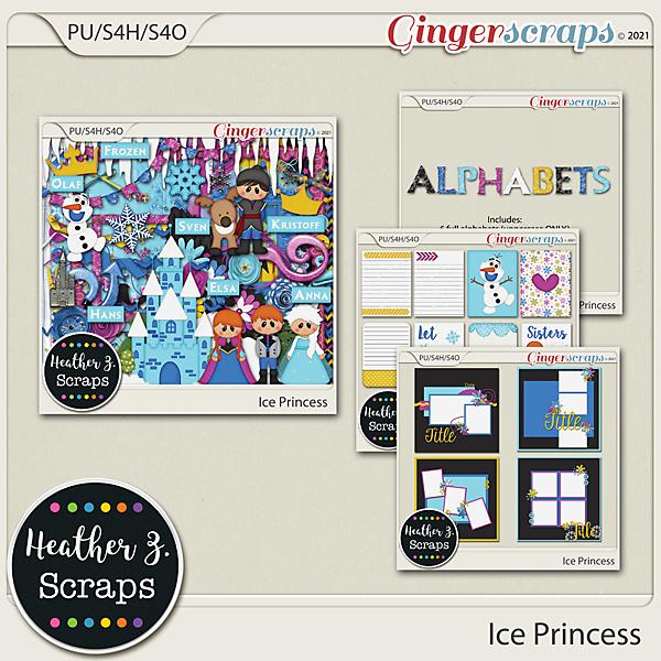 Ice Princess BUNDLE by Heather Z Scraps