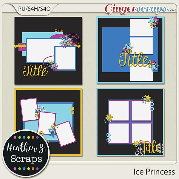 Ice Princess TEMPLATES by Heather Z Scraps