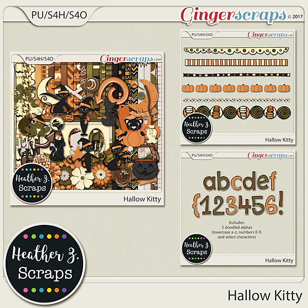 Hallow Kitty BUNDLE by Heather Z Scraps