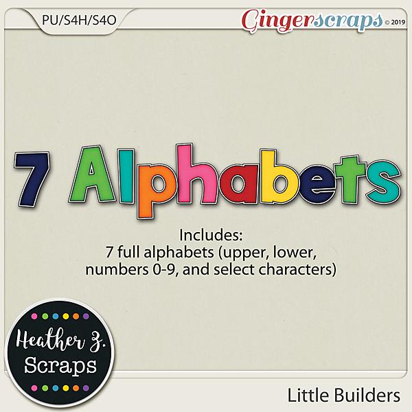 Little Builders ALPHABETS by Heather Z Scraps