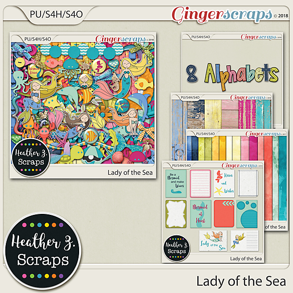 Lady of the Sea BUNDLE by Heather Z Scraps