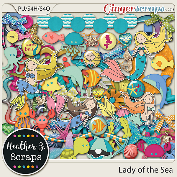 Lady of the Sea ELEMENTS by Heather Z Scraps