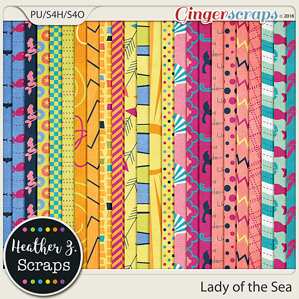 Lady of the Sea PAPERS by Heather Z Scraps