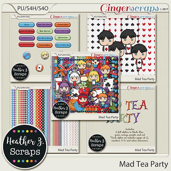 Mad Tea Party BUNDLE by Heather Z Scraps