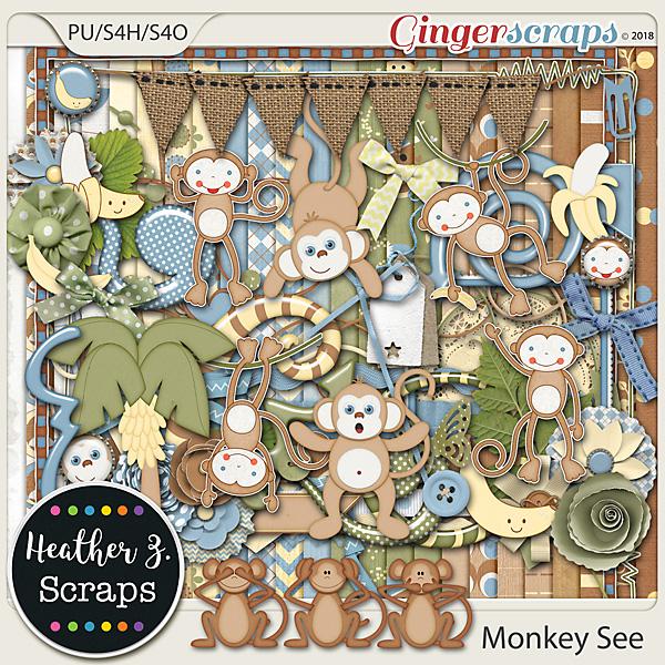 Monkey See KIT by Heather Z Scraps