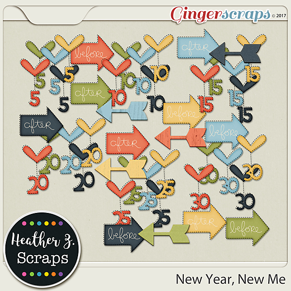 New Year, New Me ACCENTS by Heather Z Scraps