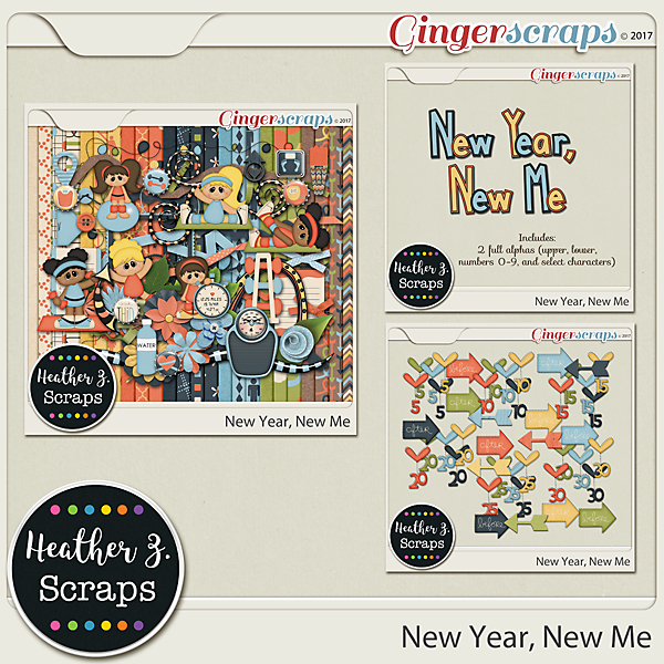 New Year, New Me BUNDLE by Heather Z Scraps