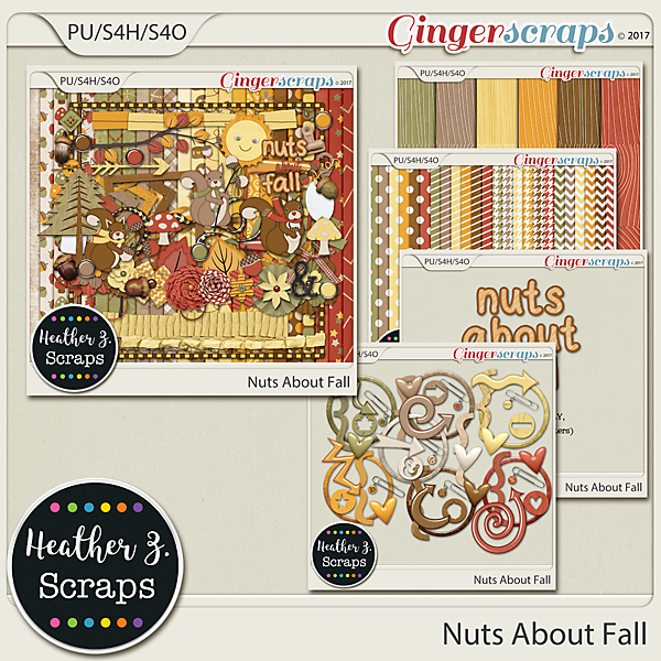 Nuts About Fall BUNDLE by Heather Z Scraps