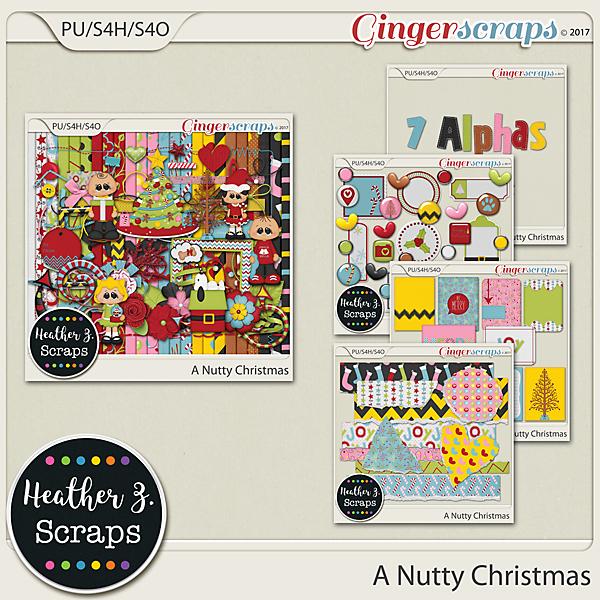 A Nutty Christmas BUNDLE by Heather Z Scraps
