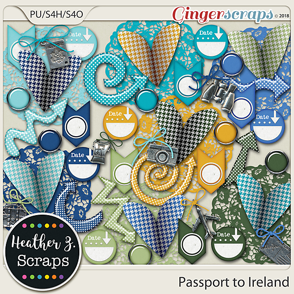 Passport to Ireland ACCENTS by Heather Z Scraps