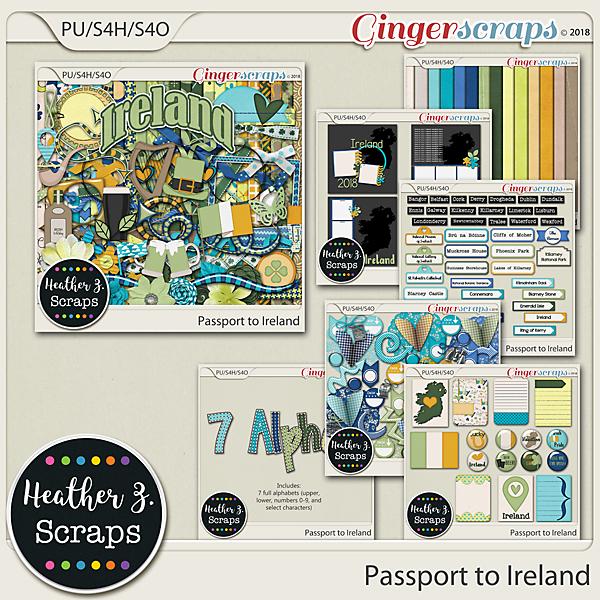 Passport to Ireland BUNDLE by Heather Z Scraps