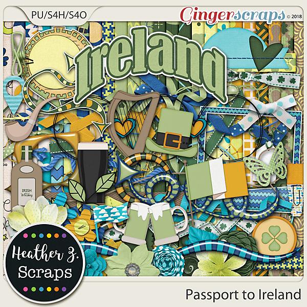 Passport to Ireland KIT by Heather Z Scraps