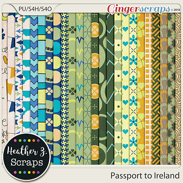 Passport to Ireland PAPERS by Heather Z Scraps