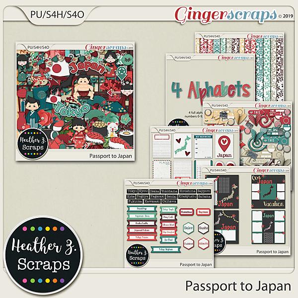 Passport to Japan BUNDLE by Heather Z Scraps