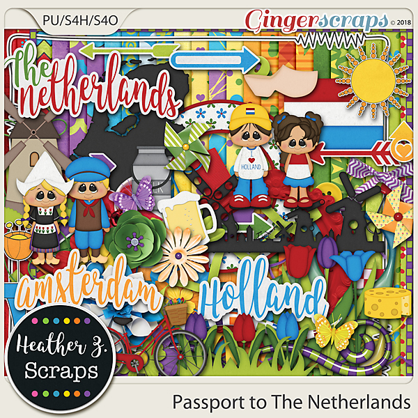 Passport to The Netherlands KIT by Heather Z Scraps