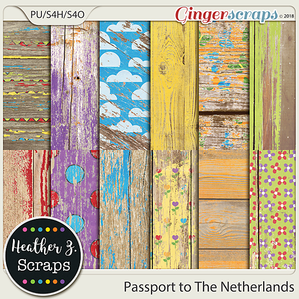 Passport to The Netherlands WEATHERED WOOD by Heather Z Scraps