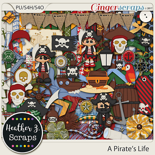A Pirate's Life KIT by Heather Z Scraps