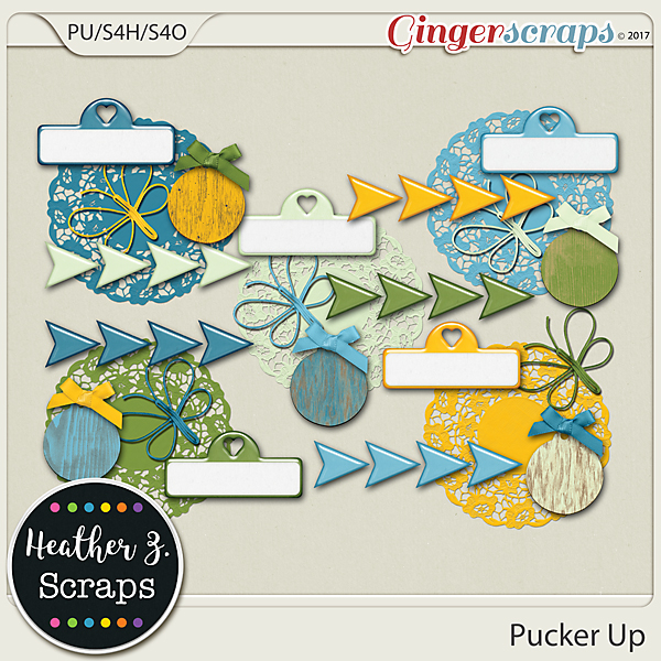 Pucker Up ACCENTS by Heather Z Scraps
