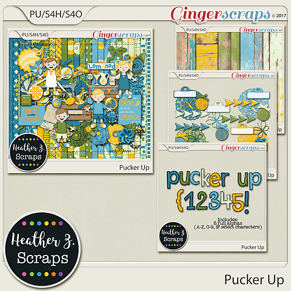Pucker Up BUNDLE by Heather Z Scraps