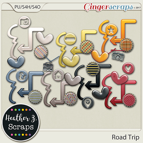 Road Trip ACCENTS by Heather Z Scraps