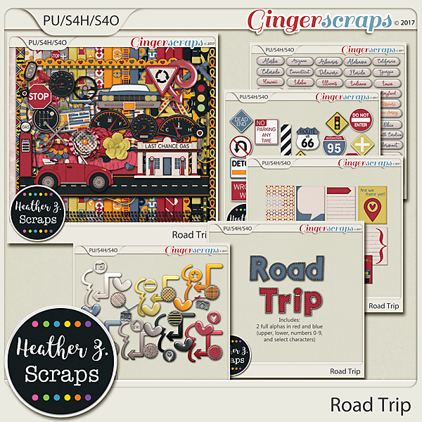 Road Trip BUNDLE by Heather Z Scraps