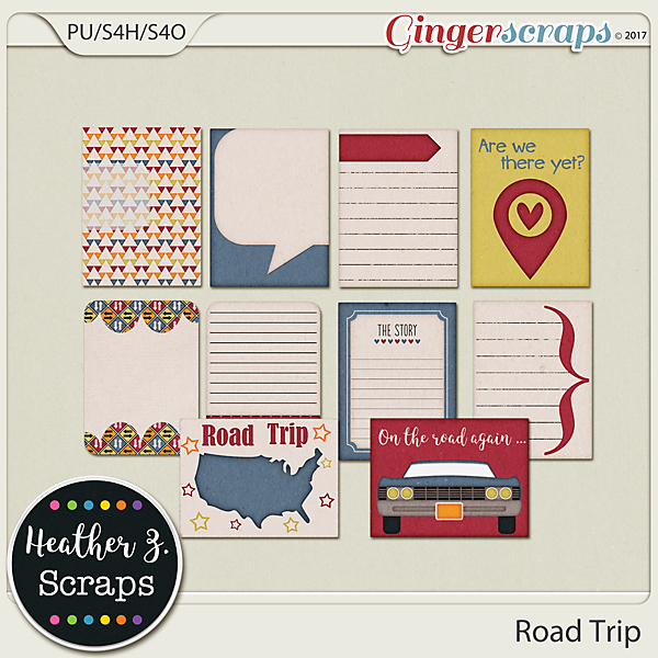 Road Trip JOURNAL CARDS by Heather Z Scraps