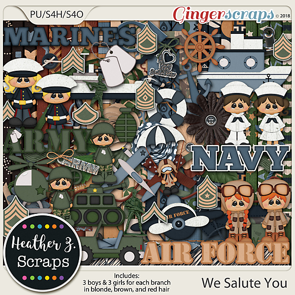 We Salute You KIT by Heather Z Scraps