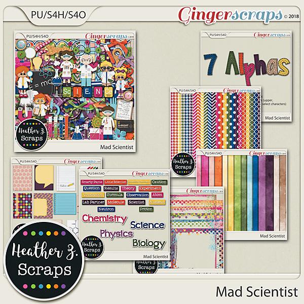 Mad Scientist BUNDLE by Heather Z Scraps
