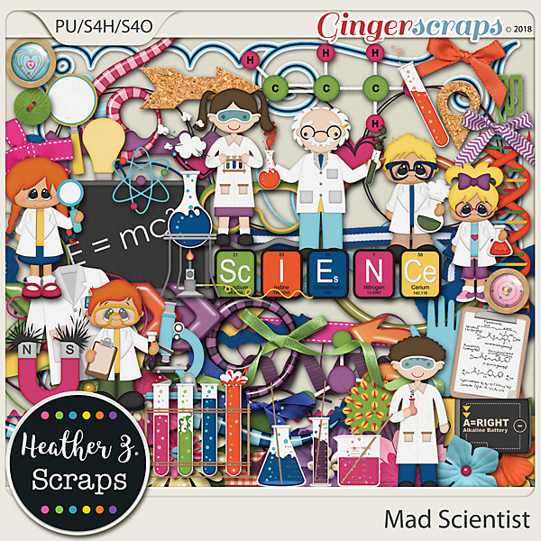 Mad Scientist ELEMENTS by Heather Z Scraps