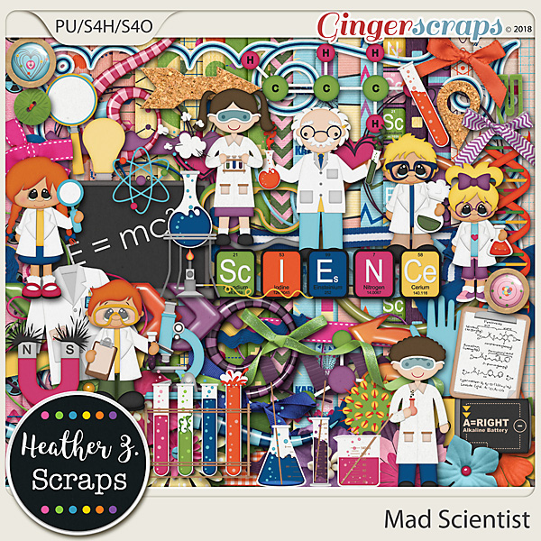 Mad Scientist KITS by Heather Z Scraps